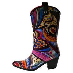 Cowboy rain boots!!