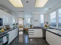 Large kitchen with amazing views of the city. #SanDiego #UTC #RetirementCommunity #Penthouse