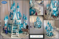 The North Mountain with Elsa's Ice Castle Frozen themed cake ...