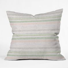 Holli Zollinger FRENCH LINEN STRIPE BLUSH Outdoor Throw Pillow | DENY Designs Home Accessories