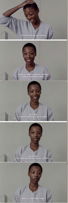 Poussey. Orange is the New Black Season 2. This just makes everything so much sadder.