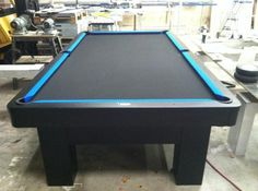 Like All Black With Blue Contrast · Custom Pool TablesCustom PoolsContrast