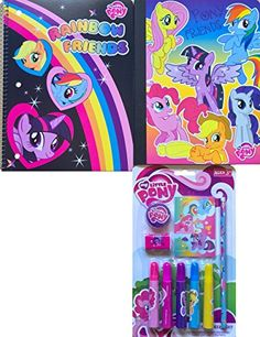 My Little Pony Back to School Supplies Includes My Little Pony Spiral Notebook and Composition Noteb @ niftywarehouse.com