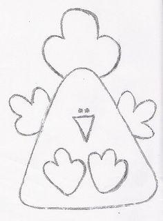 Molde - Móbile de galinha