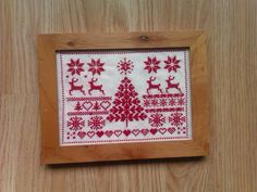 Latest cross stitch project Nordic Christmas Fairisle