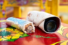 Photorito: A tortilla wrap for your camera lens! Total awesomeness & perfect for keeping your lens safe and sound.
