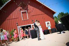 Barn wedding reception. First Dance.