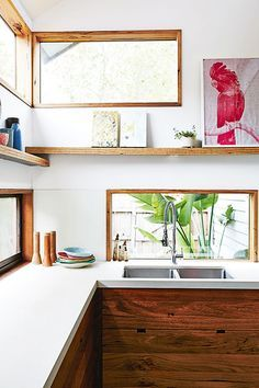 Wooden kitchen cabinets | Ipswich House for Real Living Magazine Australia: Design Gina Horner - Photography Toby Scott Wood Cabinets, Simple Kitchen, Kitc