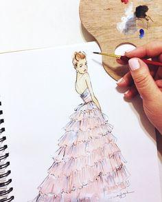 Suki Waterhouse in Burberry Fashion Illustration by Brooke Hagel, Brooklit on Etsy