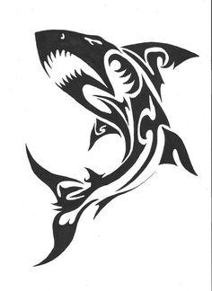 Maori Shark Art Print by Kimberly Candel Art - X-Small Small Shark Tattoo, Tribal Animal Tattoos, Tribal Animals, Tribal Art, Tattoo Stencils, Stencil Art, Hammerhead Shark Tattoo, Shark Art, Desenho Tattoo
