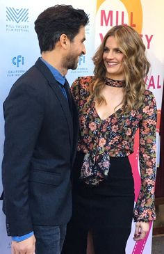 Stana Katic & Raza Jaffrey at the world premiere of the movie 'The Rendezvous' at the Mill Valley Film Festival - Oct. 8, 2016