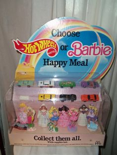 I could never decide if I wanted the Barbie or Hot Wheels toy!
