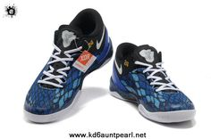 Year Of The Snake Black Blue Nike Kobe 8 System iD 555035 200 Sports Shoes Store