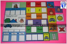 Visual Supports KitVisual Supports are an effective instructional tool that can:Organize a sequence of events, enhancing the student's ability to understand, anticipate, and participate in those events.Supplement verbal instruction, clarifying the information for the student and increasing comprehension.Cue communication, providing reminders of what to do and say in a situation.Visual Supports Kit includes the following items:Now and Later card (2 1/2 x 8)1 and 2 card (2 1/2 x 8)If  and Then…
