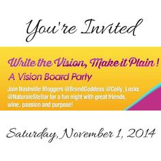 were having a vision board party and youre invited get your - Vision Board Party Invitation