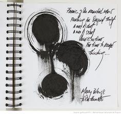 Fonds Carolyn Carlson. IV. Carnets et cahiers de notes. IV.5. Années 2000. Poèmes et dessins, 2005-2008 | Gallica