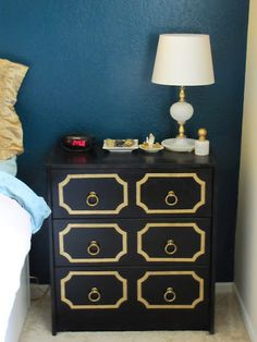 #ikea RAST chests of drawers: painted, stenciled, fitted with new drawer pulls