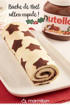 Une bûche de Noël simple et efficace pour le réveillon ! #recettemarmiton #marmiton #recette #recettefacile #recetterapide #faitmaison #cuisine #ideesrecettes #inspiration #nutella #noel #dessert #buche #buchedenoel
