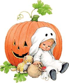 halloween cute retro