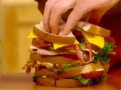This beautiful sandwich, tragically cut short: