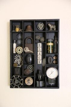 Darker Things Found Object Assemblage Art Shadowbox   Etsy