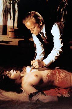 Klaus Kinski and Lina Romay in Jess Franco's 'JACK THE RIPPER' (1976).