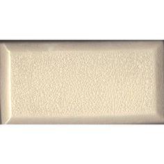 Gossamer Crackle BEVELED BRICK Tile Cream 3x6