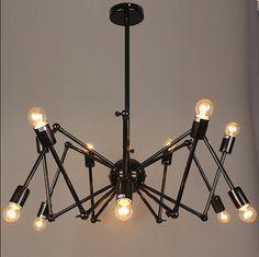 loft lampadari vintage lampada di ferro battuto il ragno luci 8 o 12 lampadine tre colori in  da Luci del pendente su AliExpress.com | Gruppo Alibaba