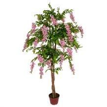 Kunststof bloemenboom Kiruna roze 150 cm
