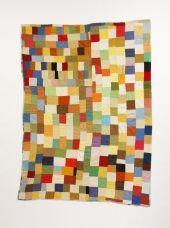 Multi-Directional Strip Quilt, Kentucky, cotton, corduroy, 1940s