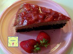 Torta golosa fragole cocco mascarpone e nutella   chez Bibia