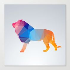 Glass Animal Series - Lion Stretched Canvas by Three Of The Possessed - $85.00