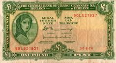 """OP: """"Old Punt (Irish Pound) - I have one of these old ones with Lady Lavery, my great-aunt gave it to me with a note saying 'This used to be money' ;)"""""""