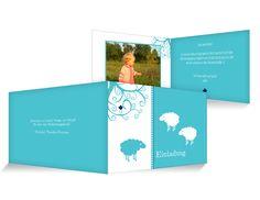 Kleine Schafe Einladungskarten Kindergeburtstag