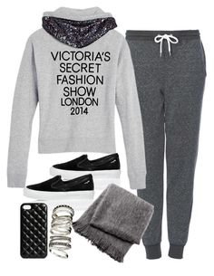 """""""Untitled #2132"""" by plainly-marie ❤ liked on Polyvore featuring moda, Topshop, Victoria's Secret, Salvatore Ferragamo, From the Road, The Case Factory y H&M"""