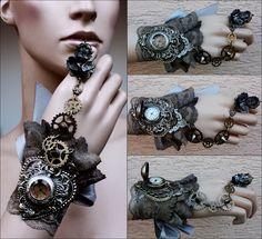 Cherub ring watch cuff by Pinkabsinthe.deviantart.com on @deviantART