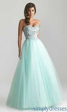 Strapless Sweetheart A-line Ball Gown by Night Moves 6669 at SimplyDresses.com