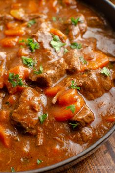 This Low Syn Braised Beef is pure comfort in a bowl and one of my favorite casserole dishes. perfect fall and winter food. Paleo Recipes, Crockpot Recipes, Cooking Recipes, Sirloin Recipes, Beef Recipes For Dinner, Pumpkin Recipes, Easy Recipes, Beef Casserole Recipes, Casserole Dishes