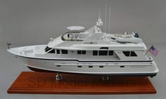 """24"""" Desktop Replica Model of a Burger 84. If you can take a few photos of your boat, you, too, can have a desktop replica model made of her. """"The boat may come or go, but the model will be kept forever."""" SD Model Makers specializes in made to order naval warship replica models in ANY size or scale desired. Model prices depend on the vessel type, model length and shipping destination. Contact us for a quote. www.sdmodelmakers.com Trawler Yachts For Sale, Big Yachts, Classic Yachts, Model Maker, Yacht For Sale, Yacht Boat, Power Boats, Model Ships, Fishing Boats"""