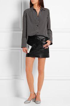Marni top, acne studios skirt and aquazzura shoes