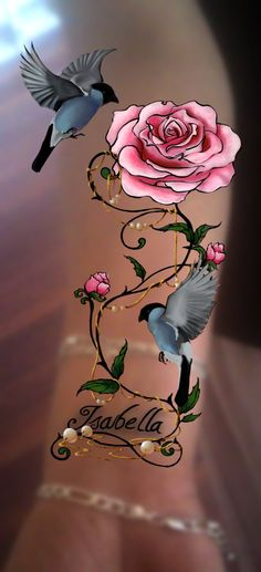 Download Free Soft pink rose tattoo design by slippereend on DeviantArt to use and take to your artist.