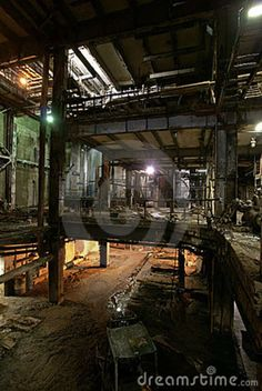 old abandoned factories | Old Abandoned Factory Royalty Free Stock Images - Image: 13007799