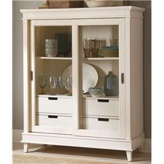 Summerhill Sliding Door China Display Cabinet by Liberty Furniture - Wolf Furniture - China Cabinet Pennsylvania, Maryland, Virginia
