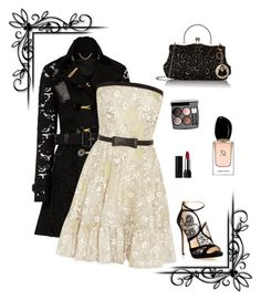 """Untitled #188"" by maurogianni-za ❤ liked on Polyvore featuring Burberry, Valentino, Jimmy Choo, Chanel, Kat Von D and Giorgio Armani"