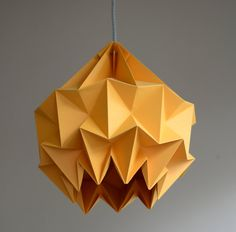 SNOW paper origami lampshade orange