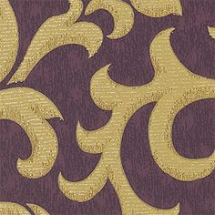 MADRONA, Plum, T1762, Collection Damask Resource 2 from Thibaut