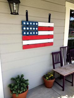 Kenneth Wingard shows you how to make your own painted wooden American flag on Home & Family! http://www.hallmarkchannel.com/summer-nights #summernights #hallmarkchannel