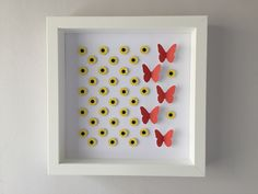 Image of Sunflowers/Butterflies - Small - Classic Sunflowers and Red Butterflies