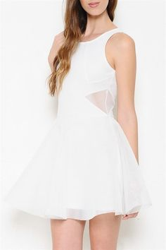 Too Good To Be True Organza Dress - White