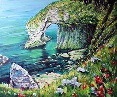 White Rocks Portrush  Antrim Painting  - White Rocks Portrush  Antrim Fine Art Print